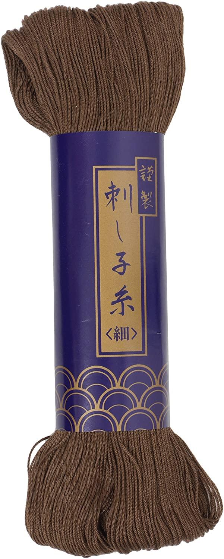 Sashiko Thread Thinner 170 meters Skein -Col.4 Dark Brown - Japanese Quilting & Embroidery