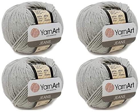 4 Skein 55% Cotton 45% Acrylic YarnArt Jeans Yarn 200 gr 696 yds (49)
