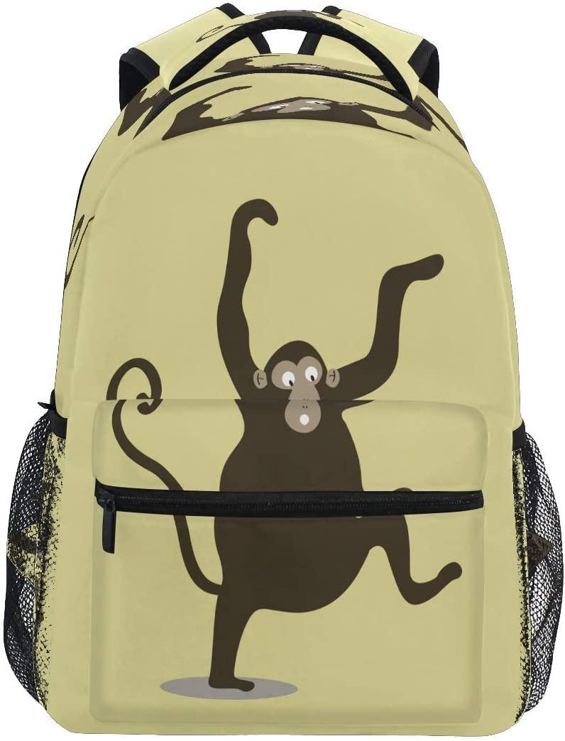 Cute Cartoon Monkey Backpack for Boy Girl Kids Bookbag Toddler School Bags Children Daypack