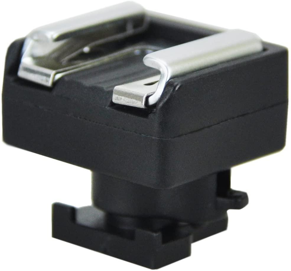 JJC Microphone & LED Light Shoe Adapter Converter for Canon VIXIA HF G20 HF G21 HF G30 HF G40 HF G50 HF G26 GX10 HF S20 HF S21 HF S30 HF S200 HF21 HF200 & More Canon Camcorder with Mini Advanced Shoe