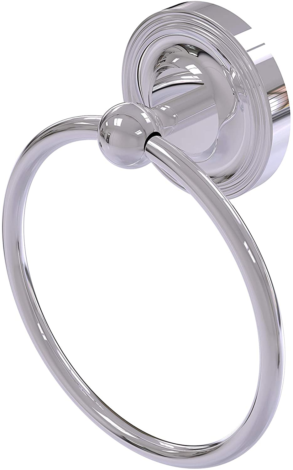 Allied Brass R-16 Regal Collection Towel Ring, Polished Chrome