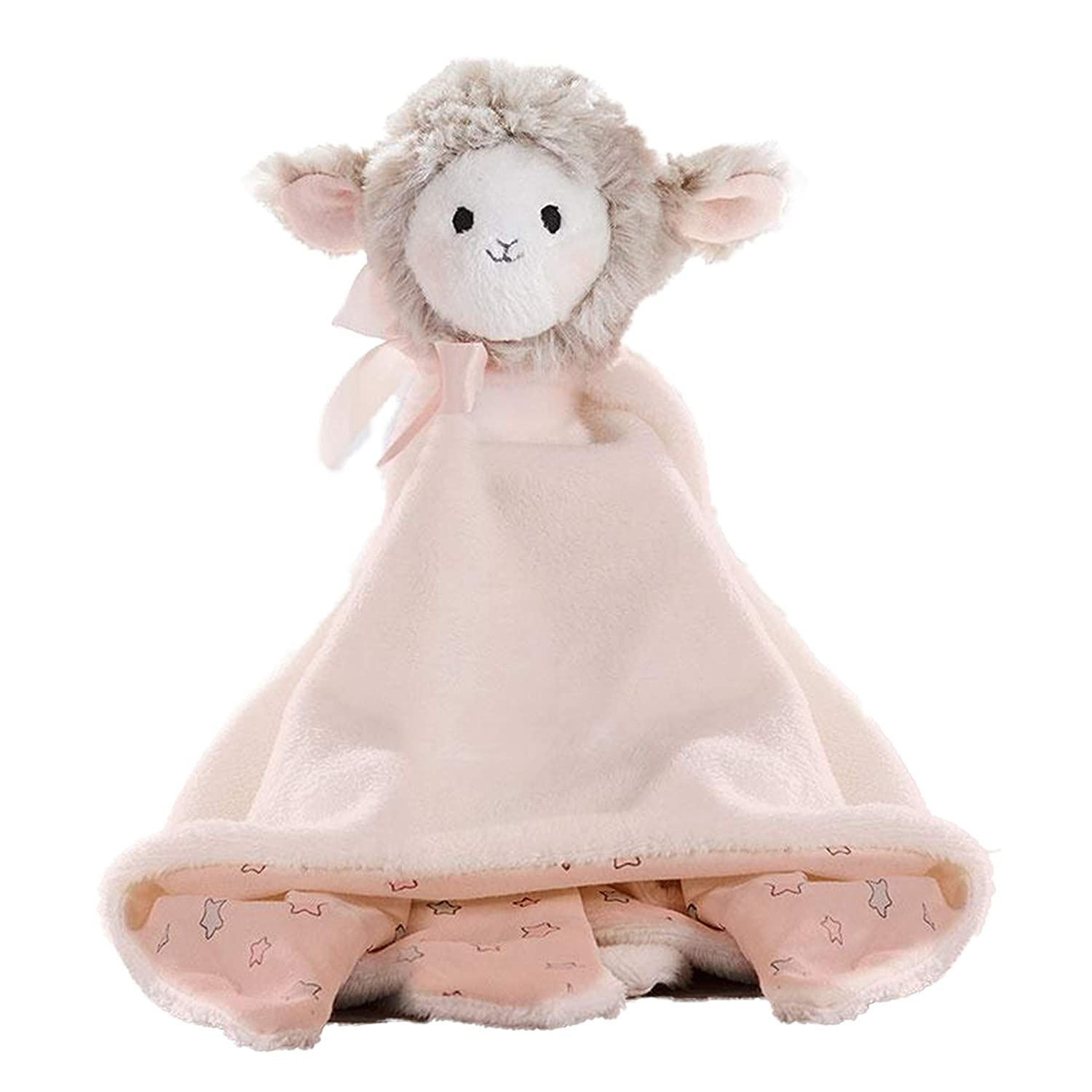 Lil Llama Plush Blanket for Baby - Polyester Soft Boa and Cotton Jersey Fabrics - Cute Security Blankets in 3 Assorted Designs (Llama)