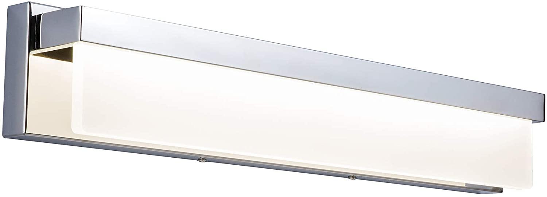 LIGHTINN LED Bathroom Vanity Light Fixture Over Mirror 24.4 inch Modern Rectangle Finishing Stainless Steel Lighting Bar 4000K Daylight Wall Sconce (Chrome)