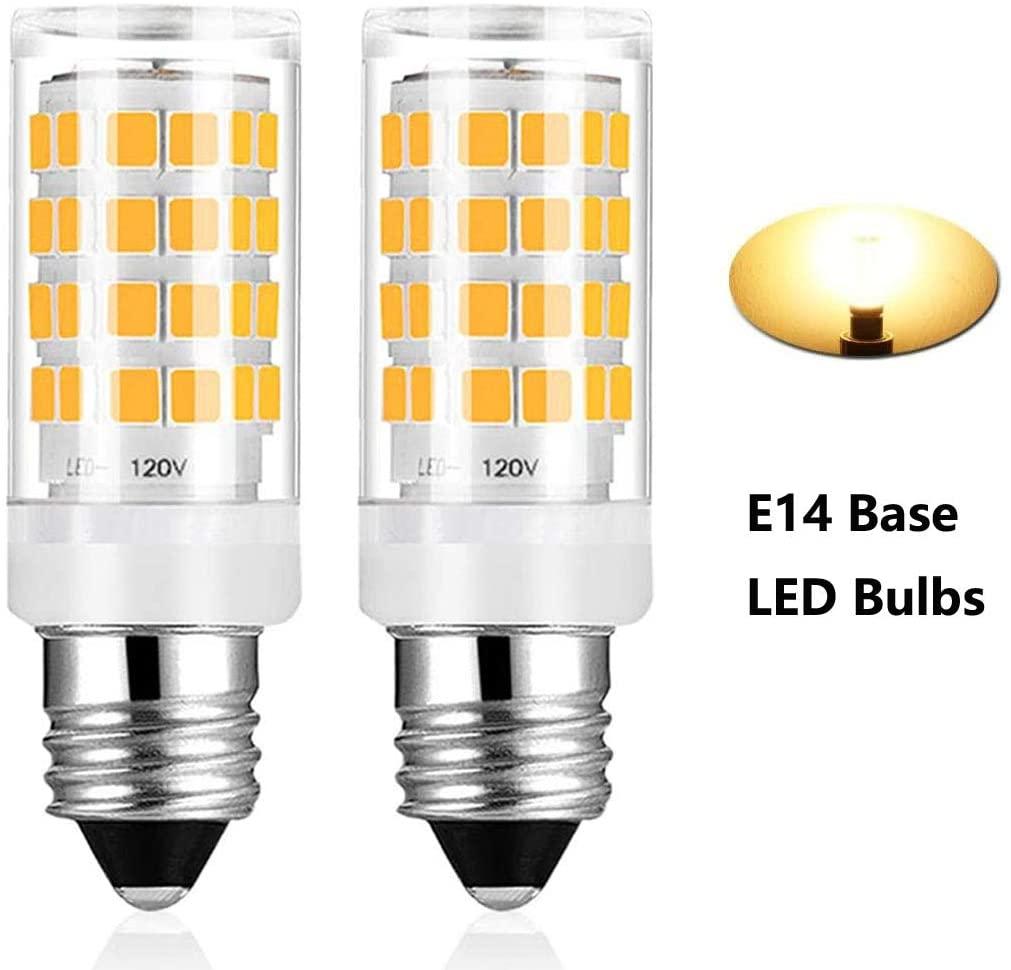 E14 Base LED Candle Shape Light Bulb, Dimmable C35 E14 European Base Bulb, 400LM 40W Equivalent (Warm White 3000K)