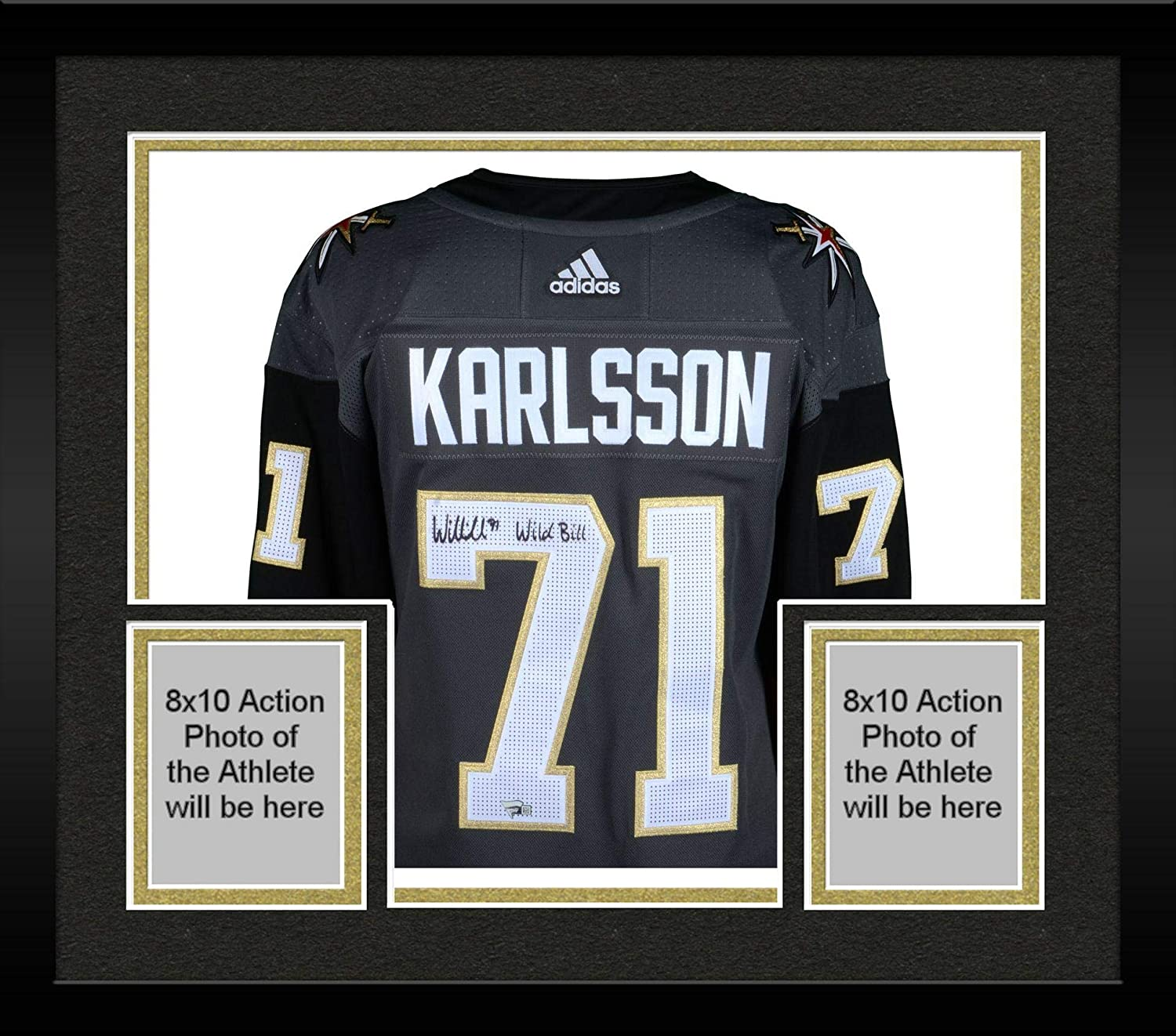 Framed William Karlsson Vegas Golden Knights Autographed Black Adidas Authentic Jersey with