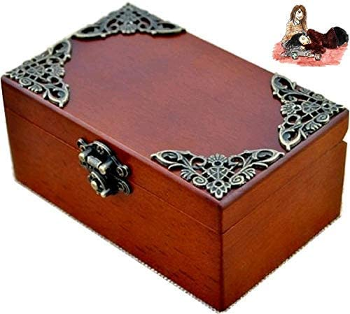 Anakin.jerry Vintage Wood Rectangle Jewelry Wind Up Music Box : Love Me Tender Theme (Soundtrack)