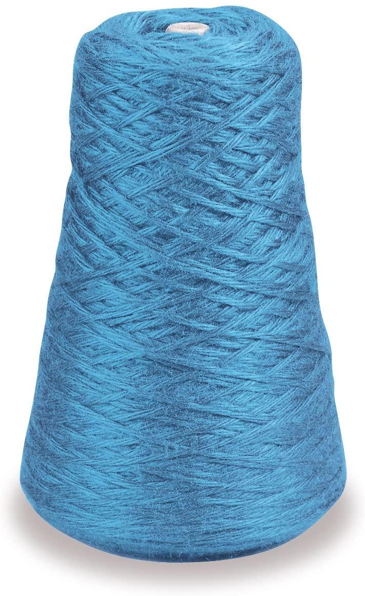 Trait-tex 4-Ply Double Weight Rug Yarn Refill Cone, 315 Yards, Blue