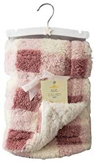 Lullaby Kids Luxury Star Pattern Sherpa Baby Blanket (Pink)