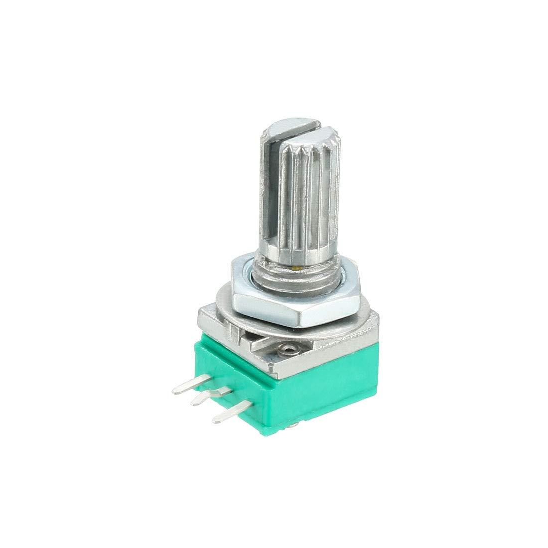 uxcell RK097N 50K Ohm Variable Resistors Single Turn Rotary Carbon Film Taper Potentiometer