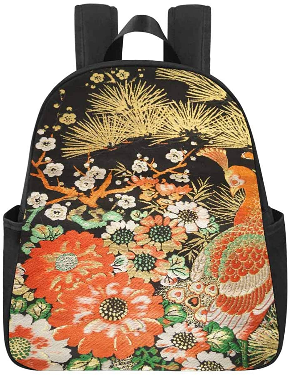 InterestPrint Peacock Animal Casual Backpack School Bag Daypack