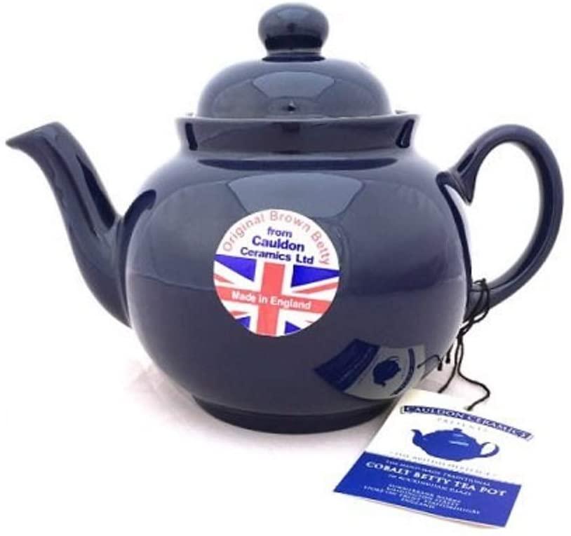 Hand Made Brown Betty 4 Cup Teapot in Cobalt Blue (Cobalt Betty)