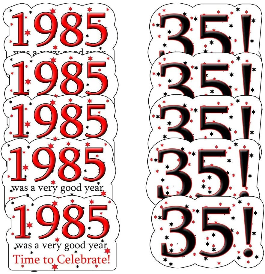 1985 35th Birthday Sticker Seal (24 Pieces) by Partypro