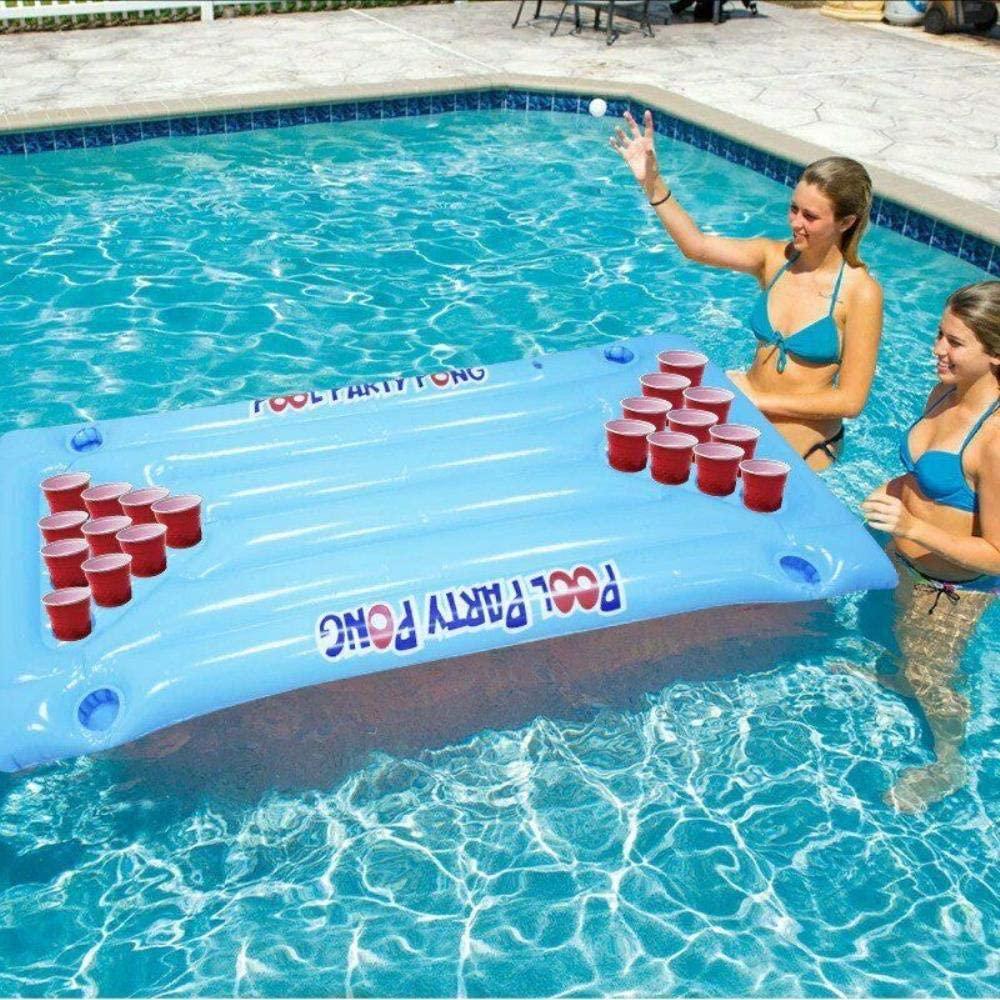 Daana Grant Beer Pong Pool Float, Inflatable Beer Pong Float Summer Water Party Table Pool Game Fun Beer Pong Game