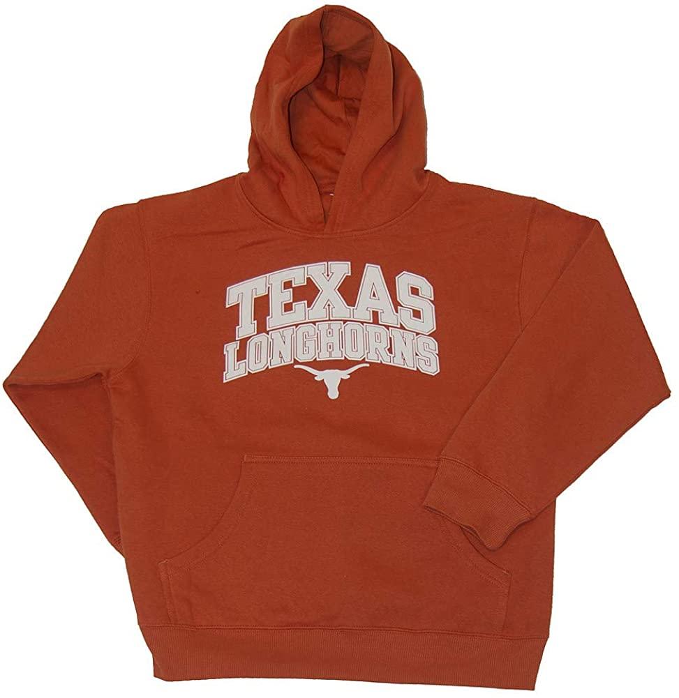 Elite Fan Shop Texas Longhorns Kids Hooded Sweatshirt Arch Orange