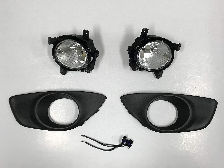 Hyundai Motors OEM Genuine Fog Lamp Light 2p with Cover 2p + Conector 2p For 2010 2011 2012 Hyundai Santa Fe