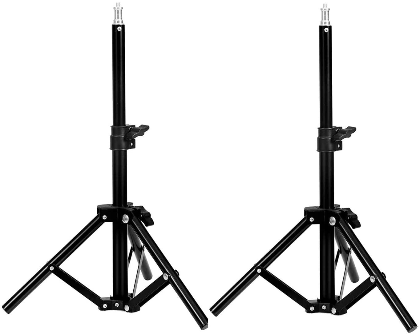 Selens Tabletop Light Stand Photography 19.6Inch/50 cm Mini Tripod for Ring Light Video Recording Photo Studio Lighting, 2 Pack