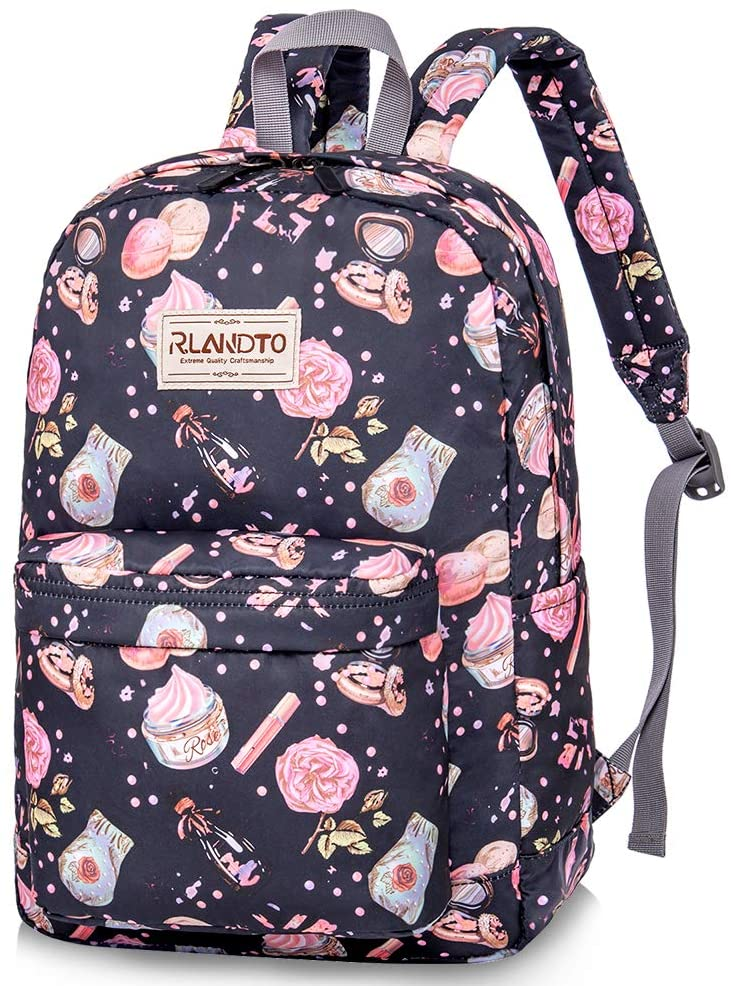 School Backpack for Teens, Water Resistant Bookbags Lightweight Backpacks with Bottle Side Pockets