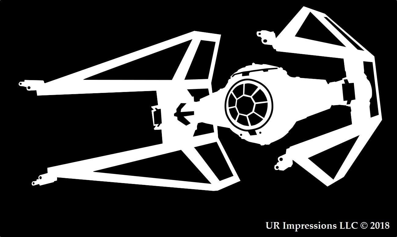 UR Impressions T.I.E Interceptor Saber Decal Vinyl Sticker Graphics for Cars Trucks SUV Vans Walls Windows Laptop|White|5.5 X 3.2 Inch|URI244