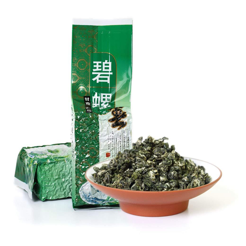 GOARTEA 2Pcs 250g (Total 17.6 Oz) Supreme SuZhou Bi Luo Chun BiLuoChun Spring Snail Chinese Green Tea (Snail) shape