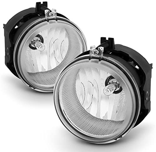 For 08-10 Dodge Challenger Chrome Clear Bumper Driving Fog Light W/Factory Style Switch