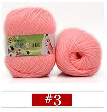 xinchenglove 1.76 Ounce / 3.52 Ounce / 7.05 Ounce/Ball Sale Soft Worsted Silk Velvet Baby Wool Cashmere Yarn Knitting Yarn Crochet Yarn Hand Knitting Thread AQ046 (3,1.76 Ounce)