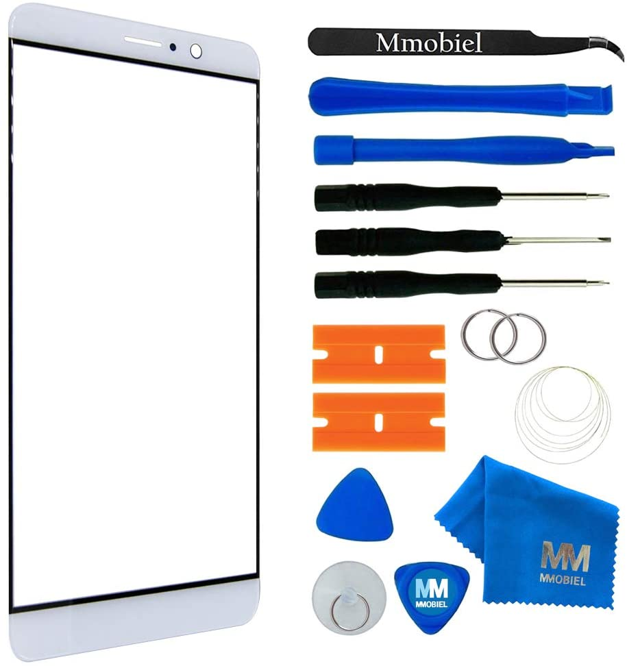 MMOBIEL Front Glass Replacement Compatible with Huawei Mate 9-5.9 inch (White) Display Touchscreen incl. Tool Kit