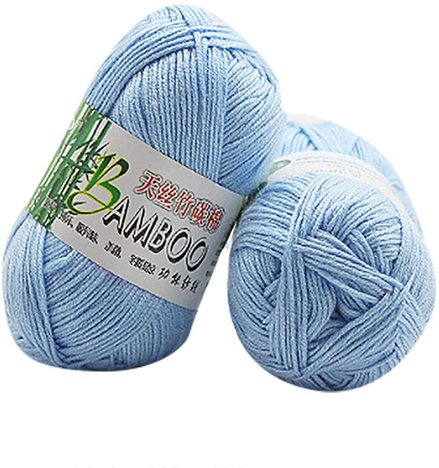 Clearance Sale !! Wool Yarn, Bamboo Cotton Thread Wool Natural Bulky/Chunky Hand Knitting Yarn Perfect for Knitting and Crocheting Crafting Soft Multi-Usage 50g (I)
