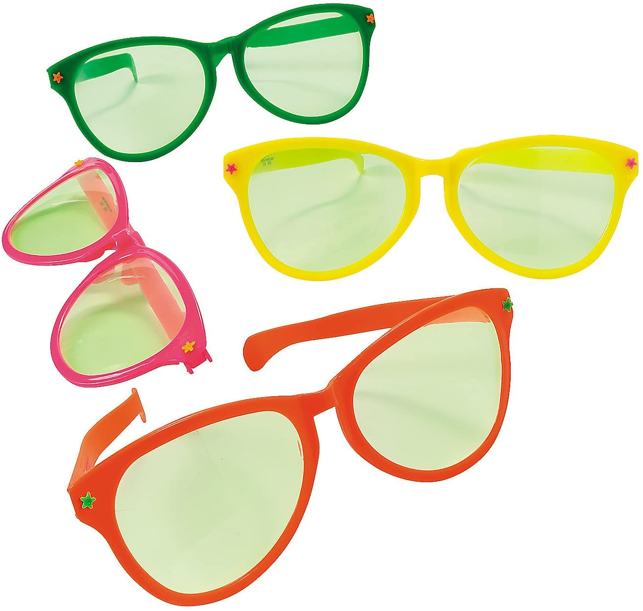 Jumbo Gigantic Wacky Sunglasses for Party - 12 Pieces