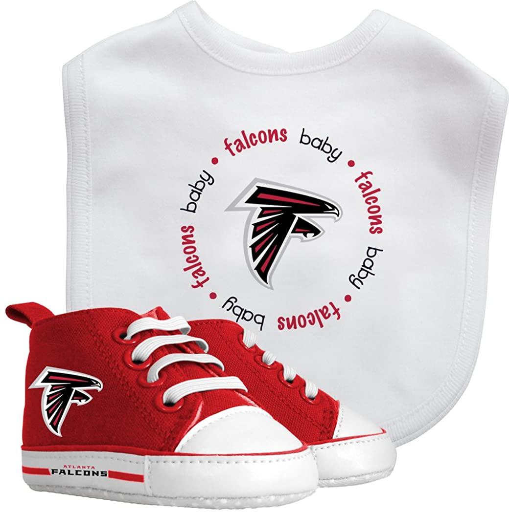 Baby Fanatic NFL Legacy Infant Gift Set, Atlanta Falcons, 2Piece Set (Bib & PRE-Walkers)