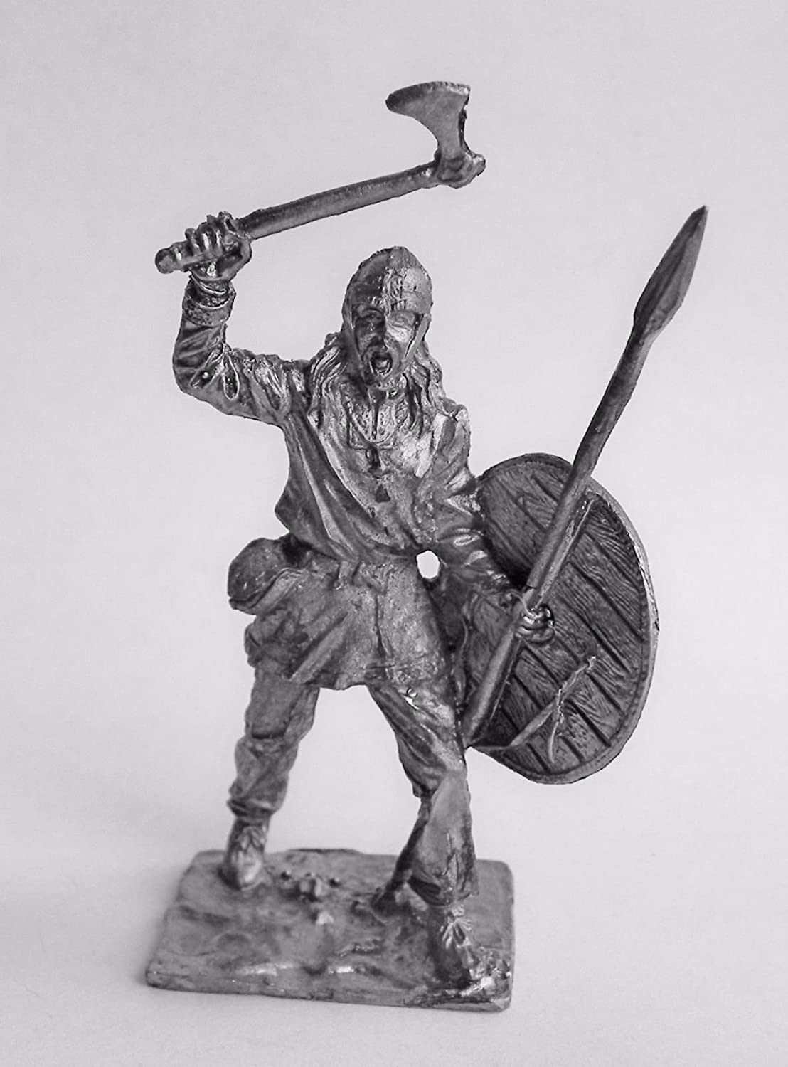 TIN HISTORY TIN FIGURES VIKINGS VIKING WITH THE AX AND THE SWORD 9 CENT. 75MM A9