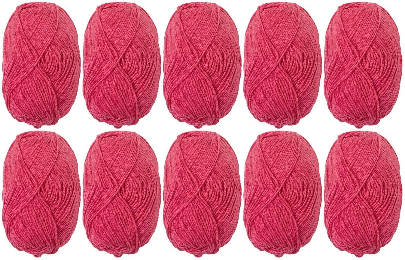 Knit Picks Brava Sport 100% Premium Acrylic Yarn - 10 Skeins (Rouge)