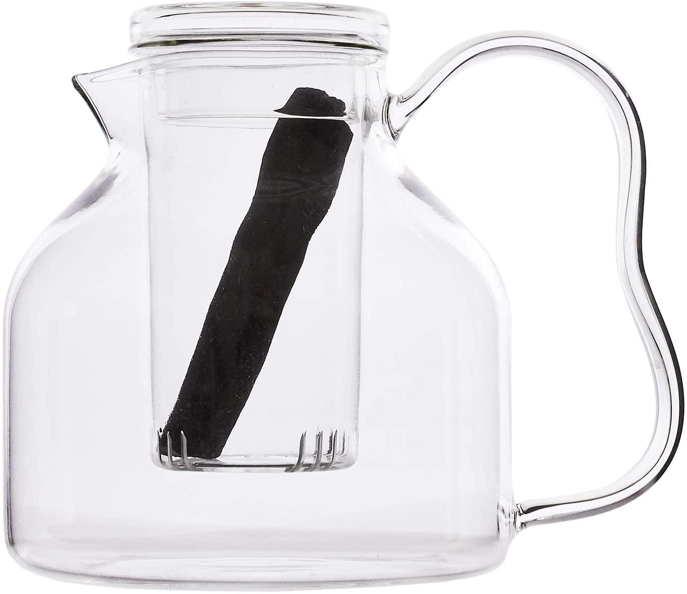 Sort of Coal - Heat Resistent Glass Bincho Teapot