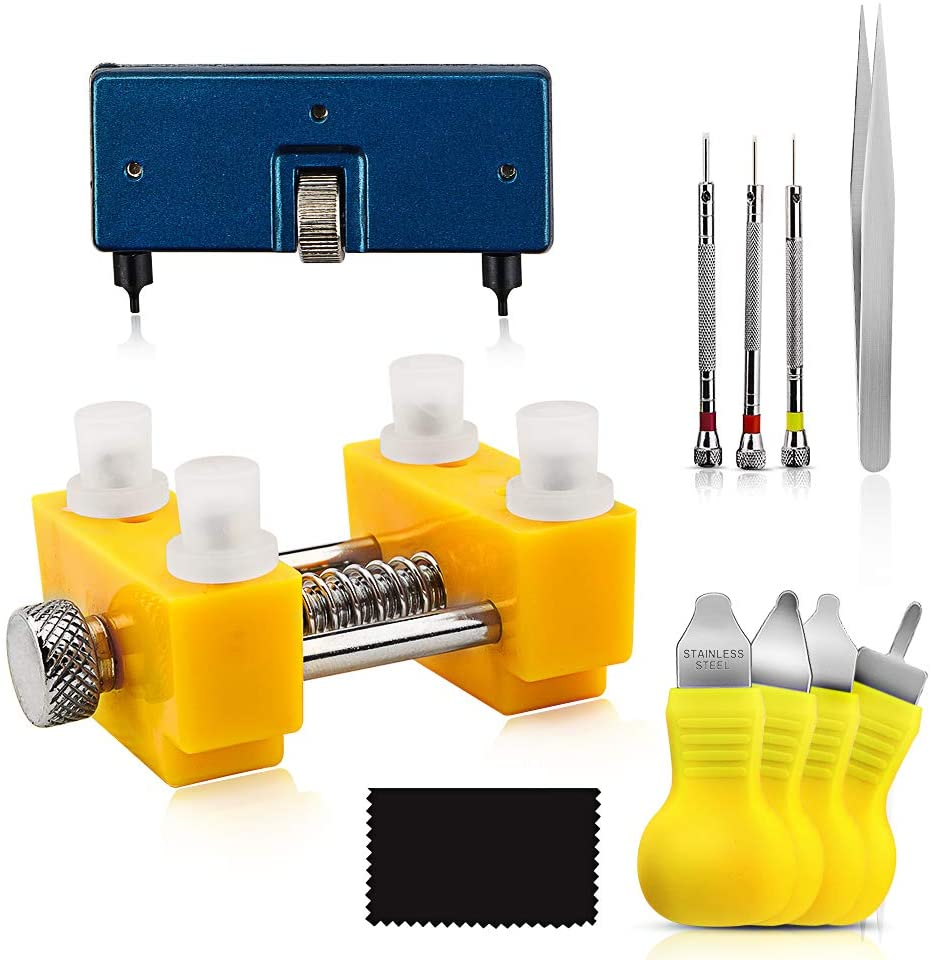 Onebom Watch Tool Set, Watch Repair Kit Professional with Everything, for Various Kinds of Watch (Watch Back Remover)