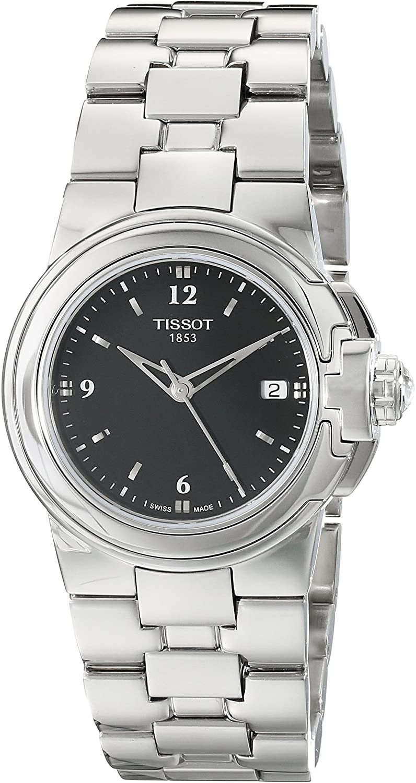 Tissot Women's T080.210.11.057.00 'T Sport' Black Dial Stainless Steel Quartz Watch T080.210.11.057.00