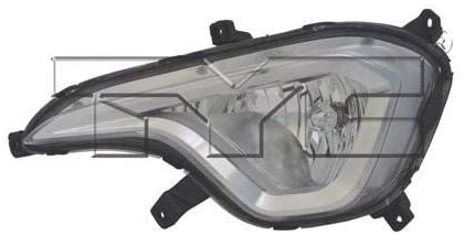 Go-Parts - for 2013 - 2016 Hyundai Santa Fe Fog Light Lamp Assembly Replacement Housing / Lens / Cover - Left (Driver) Side - (GLS + Limited) 92201-B8030 HY2592144 Replacement 2014 2015