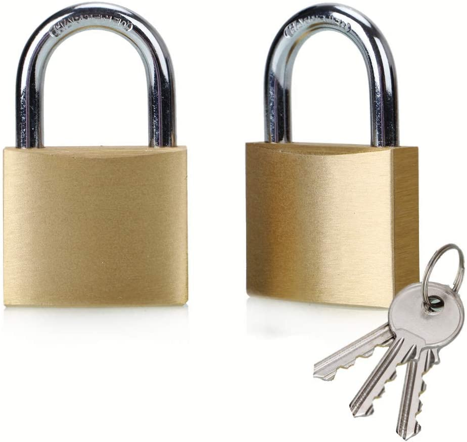 ABRAFOX Solid Brass Same Keyed Padlock keyed Alike Lock-40mm 2pack