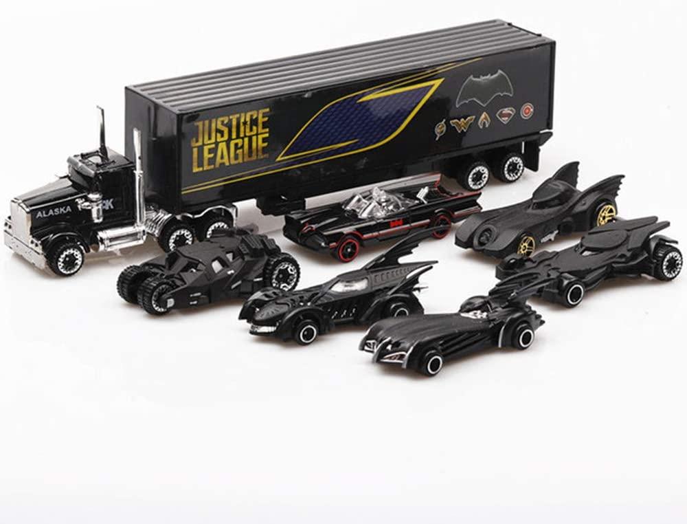 Car Model of Batman, Metal Cast Vehicle, Forever Batmobile 7 Piece/Set for Boys Kids Birthday Gift, Party Favors Easter Eggs Filler or Cake Toppers