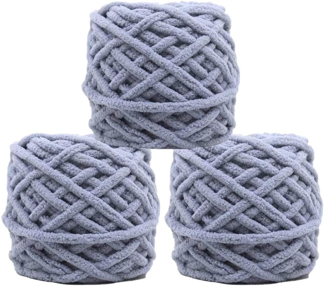 3 Pack of Soft Warm Coral Fleece Baby Yarn Hand Knitting Cashmere Velvet Yarn Baby Sweater Scarf Hat Blanket Crochet Yarn