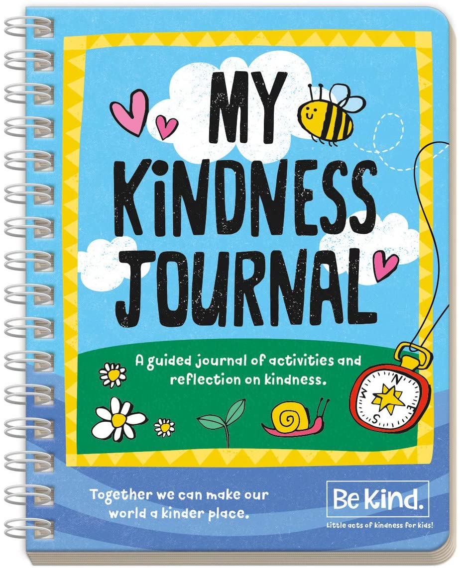 Peaceable Kingdom Be Kind Activities - My Kindness Journal – An Act& Reflect guided activity diary for boys & girls - Prompts kids to plan their own acts of kindness & reflect on how to care for other