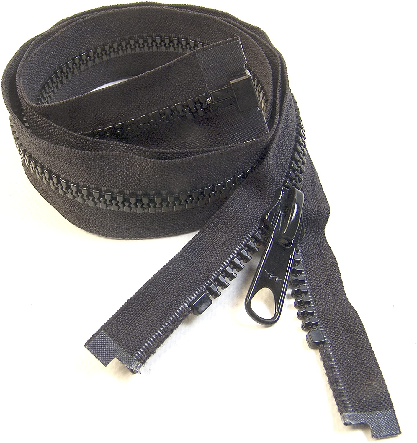 Zipper, 24 Inch, YKK, Black, #8, Seperating Zipper, Double Metal Slider, Boat Canvas