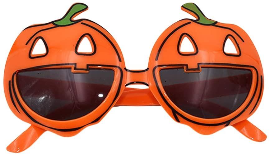 BESTOYARD Halloween Party Glasses Pumpkin Sunglasses Funny Novelty Eyeglasses for Halloween Party Favors Costume Props (Orange)