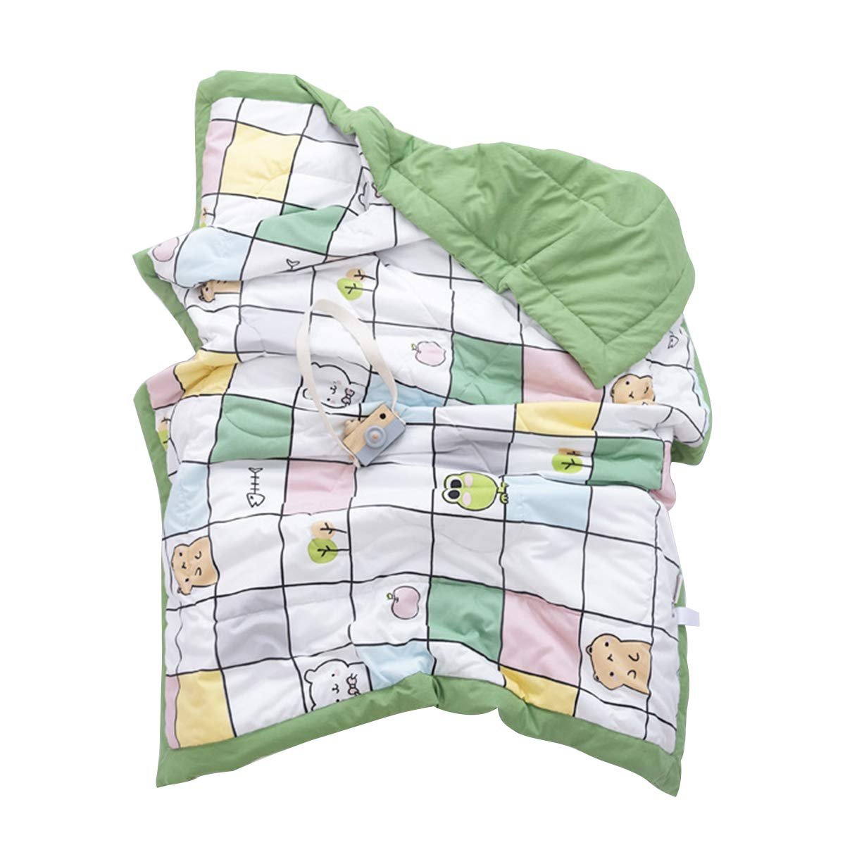 OhhGo Toddler Baby Soft Warm Nap Blanket Double-Sided Sleeping Quilt for Kids Boys Girls