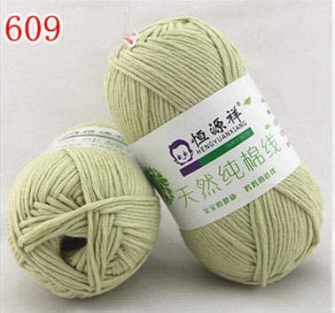 LY Combed 50g/Ball 100% Organic Cotton First Class Soft Baby Yarn Eco-Friendly Cotton Yarn for Hand Knitting Crochet Thread (9)