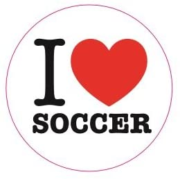 500 I Love Soccer Stickers (1 Roll/500 Stickers)