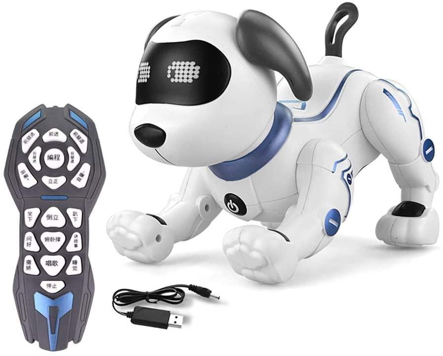 fineshelf Programming Smart Robot Dog,Dancing Walk Smart Robot Electronic Pet for Kid Gift