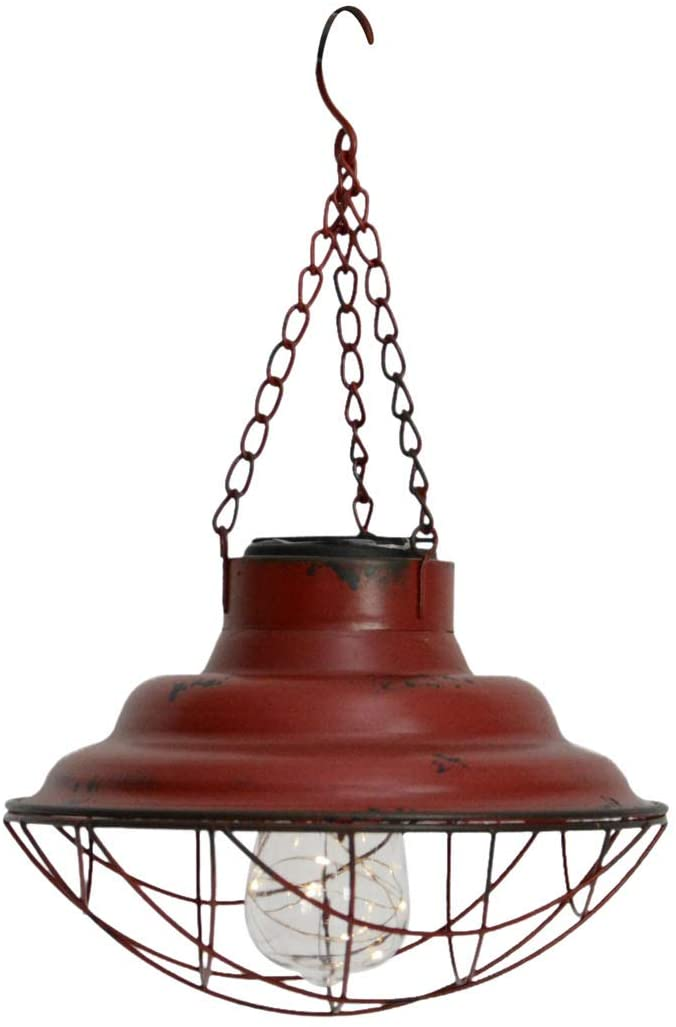 Pine Ridge Hanging Rustic Solar Light (RED)