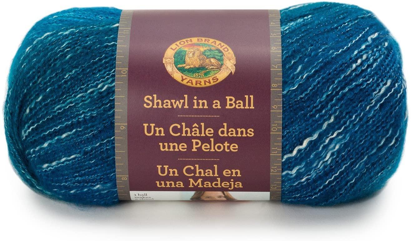 Lion Brand Yarn 828-204 Shawl in a Ball Yarn, One Size, Healing Teal