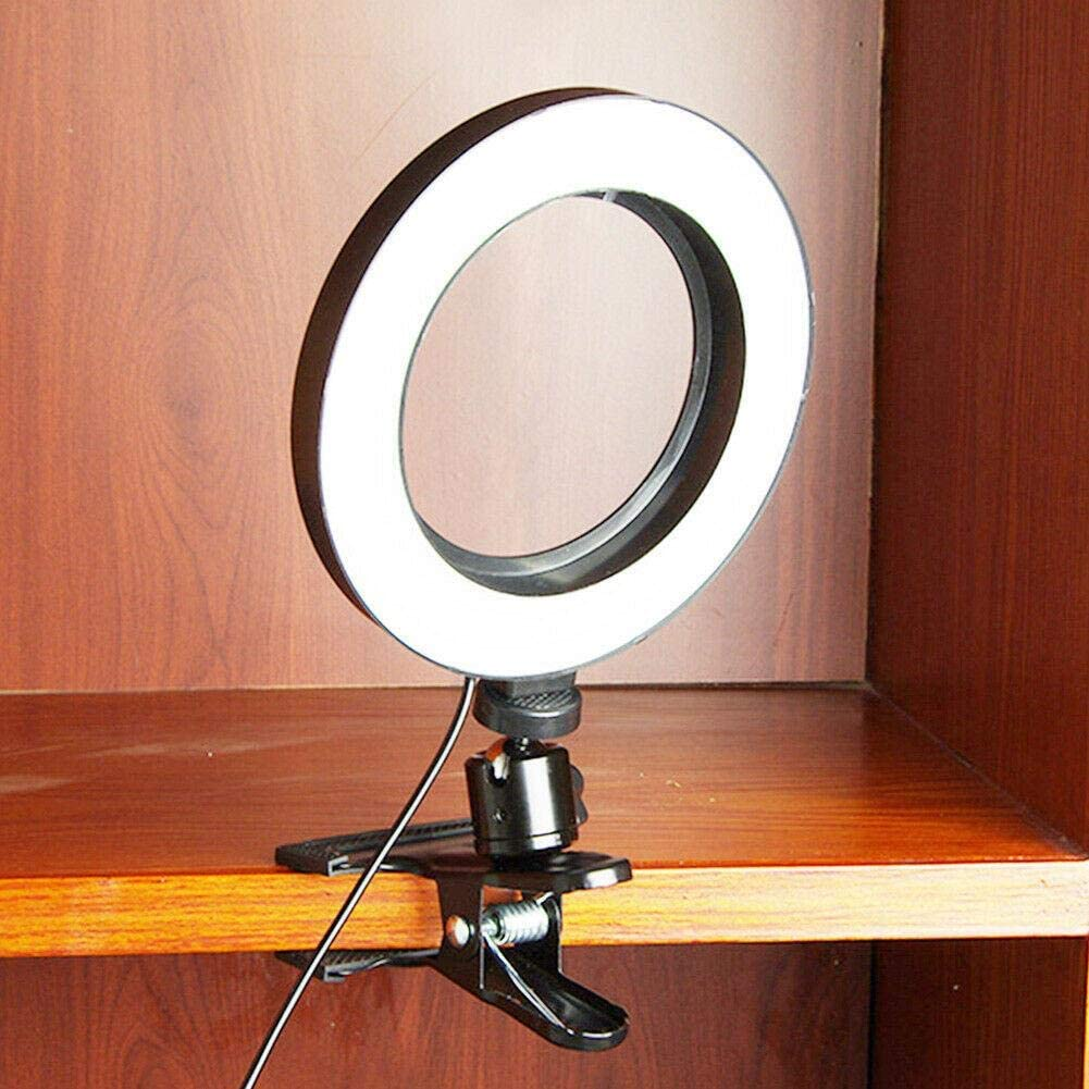 Xianggu Selfie Fill Light, 6.29in/7.87in/10.23in Dimmable Portable Clip Ring Light, Photo Video Lighting kit, for Photography Shooting Live Streaming Makeup Self-Portrait Vlogging
