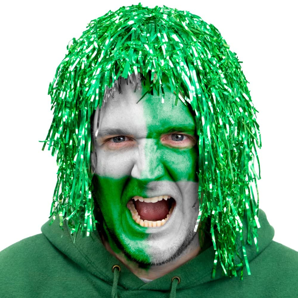 Tinsel Wigs, 6-Pack - Fake Foil Hair Props - Halloween, Events, Arts & Crafts