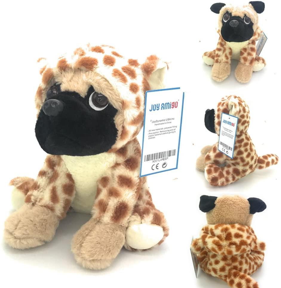 JoyAmigo Pug Stuffed Aimal Plush Dog Puppy Soft Cuddly Animal Toy in Costumes - Super Cute Quality Teddy Plush 10 Inch